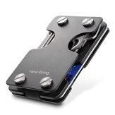 NewBring RFID Engelleme Cüzdan Erkekler Kart Sahibinin Çok fonksiyonlu Metal Para Klip Kredi Kartı ve Anahtar Tutucu için Kart Sahibiyle Depolama İş Hediyeleri