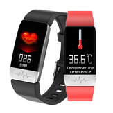[Körpertemperaturmessung] Bakeey T1 Thermometer-EKG-Monitor Herzfrequenz Blutdruck SpO2-Monitor Gesundheitswesen GPS Run Route Track Smart Watch