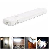 USB Isi Ulang LED Di Bawah Kabinet Lampu Malam Sensor Gerak Lampu Lemari Dapur Lemari Pakaian