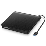EIVOTOR USB3.0 External Optical Drive USB CD DVD Burner DVD-RW Player Writer Rewriter Support 2MB Data Transfer for PC Laptop Computer