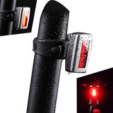 WHEEL UP XC-235R ABS PMMA Len Bicycle LED Taillight USB Charge 3 Mode Mini Bike Taillight Waterproof