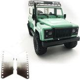 2 PCS MN-90 1/12 atualizado Rc Car peças de Metal Side Pedal Plate