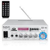2000W Bluetooth5.0オーディオパワーアンプEQステレオAMPカーホーム2CHAUX USB FM SD