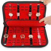 Portable 20 Slots Watch Box Display Collection Opbergtas