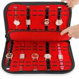 Sac de rangement pour collection d'affichage de boîte à montres portable 20 emplacements