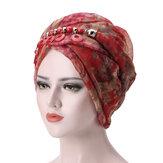 Szalik damski z przędzy Bali Etniczna czapka z dzianiny Turban
