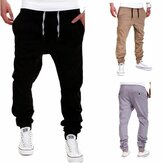 Men's Jogging Cotton Drawstring Pants Casual Sports Trousers Slim Trousers Outdoor Fitness Hiking