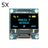 5Pcs 0.96 Inch 6Pin 12864 SPI Blue Yellow OLED Display Module Geekcreit for Arduino - products that work with official Arduino boards