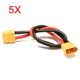 5Pcs 30cm Battery ESC XT60 Plug Extension Wire Cable Male Female