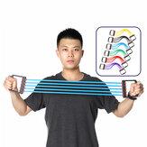 Goma extraíble 5 tubos Extensor de pecho Brazo de mano Brazo Barra de tracción Bandas de resistencia Aptitud Ejercicio herramientas