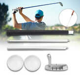 Removable Golf Alignment Stick Chipping Swing Trainer Sport Golf Pole with Golf Ball