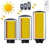 40W 80W 120W RadarSensor LED Solar Light  2835 Wall Street Lamp Garden Outdoor Lighting + Remote Control