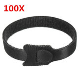 100pcs Black Nylon Cable Ties Belt 12mm x 200mm Pack Electric Wire Straps