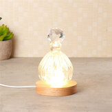 3D Round Crystal Glass Laser LED Battery Electric Light Up Display Stand Base