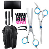 16pcs Professional Hair Cutting Tools Set Hair Trimmer Hairdressing Scissors Clips Comb Cape