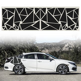 200x60cm Car Side Body Sticker DIY Vinyl Decal Graphic Triangles
