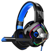 YoBo A66 RGB headphones Gaming Headset With Microphone 7.1 Channel Head-Mounted Desktop Computer Notebook 3.5MM Interface Mobile Phoneired