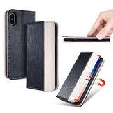 BakeeyProtectordePatadeCabra con Ranura Magnética Flip Premium Caso Para iPhone X