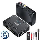 Wyświetlacz Bakeey OLED Bluetooth V5.0 Nadajnik audio z obsługą NFC Bezprzewodowy 3,5 mm Aux / 2RCA / Optyczny adapter audio / Obsługa nadajnika FM Dysk USB Karta TF do telewizora Głośnik PC Samochodowy system dźwiękowy Domowy system dźwiękowy