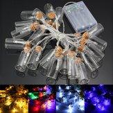 Alimenté par batterie 20 LED souhaitant bouteille chaîne de fée noël lumière mariage de jardin de décor de partie