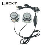 EQKIT Mini Speaker DIY Kit USB Power Amplifier Wire Control Small Speaker DIY Speaker Parts
