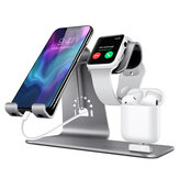Bestand H06 Multi-Functional 3-In-1 Wireless Charger Dock Charging Station Desktop Holder for iPhone / Lightning Interface Devices / Tablet / for Airpods / Smart Watch