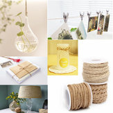 5M Natur hessischen Seil Burlap Band DIY Fertigkeit Vintage Wedding Party Home Decor