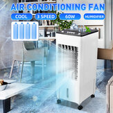 220V Portable Air Conditioning Fan Mechanical Humidifier Cooling System 3 Speed
