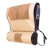 Double 8D Electric Neck Massager Infrared Heating Jade Physiotherapy PU Cervical Spine Massage Pillow