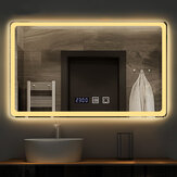 YIKOLA Bathroom Mirror with LED 3 Lighting Modes Defog Function Touch Control Makeup Mirror