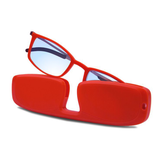 フルフレームホルダーポータブル耐久性のある軽量樹脂老眼鏡ブラウン抗疲労抗ブルーライト