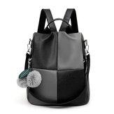 المرأة المضادة للسرقة جلدية مدرسة حقيبة الظهر حقيبة السفر حقيبة الكتف
