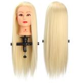 Tête de pratique d'entraînement pour salon de coiffure de 29 '' avec pince