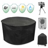 30inch Patio Round Pit Cover Protecteur anti-UV anti-UV Grill BBQ Chair Shelter Noir