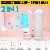 2000mAh Handheld UV Kiemdodende lamp Mini LED USB Portable UVC Desinfectielamp