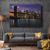 Pont de nuit LED Light Up Lighted Canvas Paintings Picture Wall Hanging Art Decor