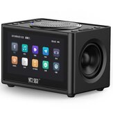 Soaiy K6 Wireless bluetooth Speaker 20W Video Mini Subwoofer Portable Car Computer Speaker Support FM Radio Alarm Clock LED Screen