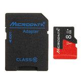 Microdonnées 8GB C10 U1 Carte mémoire Micro TF avec adaptateur adaptateur de carte pour TF au format SD