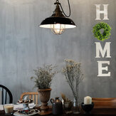 Wall-mounted Wooden Hanging Letter Artificial Eucalyptus Home DIY Wall Decor Sign For Home Decoration