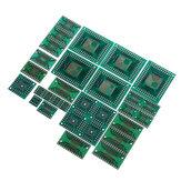 30 stk PCB Board Kit SMD Drej til DIP Adapter Converter Plate FQFP 32 44 64 80 100 HTQFP QFN48 SOP SSOP TSSOP 8 16 24 28