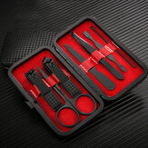 7Pcs/ Set Professional Manicure Tools Stainless Steel Matte Nail Scissors Nail Clipper Tool Set