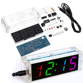 Geekcreit® Colorful Digital Clock Electronic Production Kit DIY Parts Component Kit Electronic Watch Welding Experiment