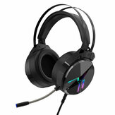 TAIDU THS309 Game Headset 7.1 Channel / 3.5mm Wired Stereo Sound RGB Gaming Heaphones with Mic for Computer PC Gamer