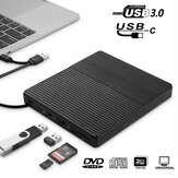 USB 3.0 External DVD-RW Drive Slim RW CD R Burner Copier Reader