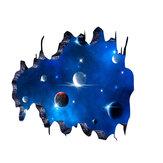 3D Blue Universe Galaxy Planet Crianças Adesivos de Parede Decalques Murais para Quartos de Crianças Berçário Quarto de Bebê Decoração de Casa