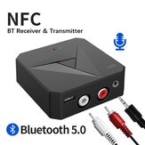 Bakeey 2 In 1 NFC-enabled bluetooth V5.0 Audio Transmitter Receiver 3.5mm Aux RCA Wireless Audio Adapter Untuk TV PC Headphone Sistem Stereo Mobil Sistem Suara Rumah