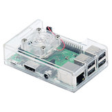 3-in-1 ABS Case + Cooling Fan + Heatsink Kit untuk Raspberry Pi 3B + / 3B / 2B