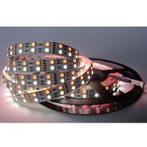 Non-waterproof Double Rows Flexible SMD5050 RGB+W 5M 600LED Strip Light for Indoor Outdoor Home Decoration DC12V