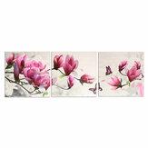 3 stks muur decoratieve olieverf canvas magnolia muur decor art foto frameloze muur opknoping decoraties voor thuiskantoor