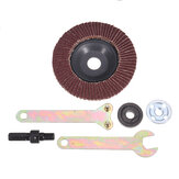 100mm Flap Disc Sanding Wheel with 5pcs Flange Nuts Grinding Accessories for Angle Grinder